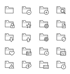 Folder Icons Line vector image