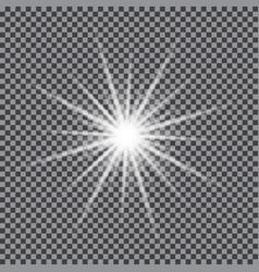 Glowing light star vector