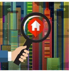 House hunting and searching vector image