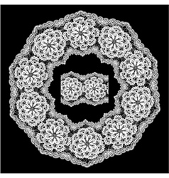lace round 6 380 vector image vector image