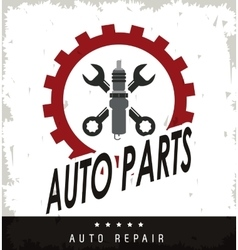 Machine and wrench icon Auto part design vector image vector image