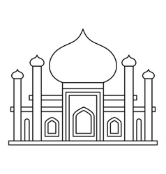 Mosque icon in outline style vector image
