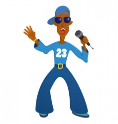 rap vector image