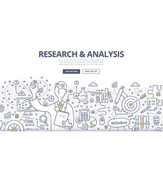 Research Analysis Doodle Concept vector image vector image