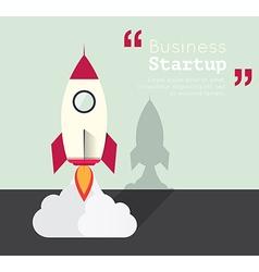 Rocket for business startup concept vector