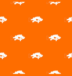 Sea bass fish pattern seamless vector