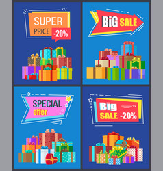 Special offer big sale super price 20 off discount vector