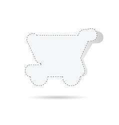 sticker of basket shop white vector image