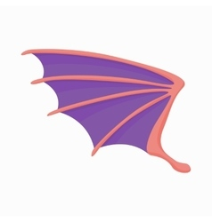 Violet dragon wing icon cartoon style vector image vector image