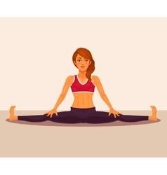 yoga girl doing the splits vector image