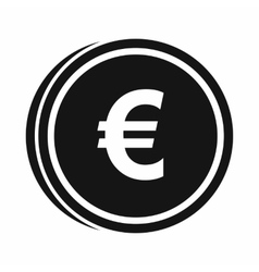 Euro coins icon simple style vector