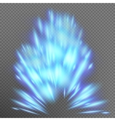 Blue abstract effect object burst eps 10 vector