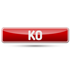 Ko - abstract beautiful button with text vector