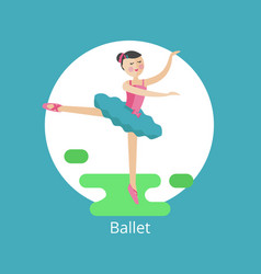 Icon of ballet vector