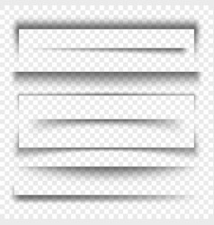 Paper banner and dividers realistic 3d transparent vector