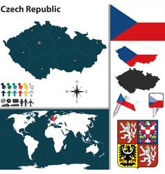 Czech Republic map world vector image