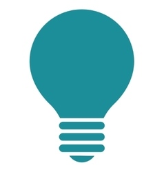 Electric bulb flat soft blue color icon vector