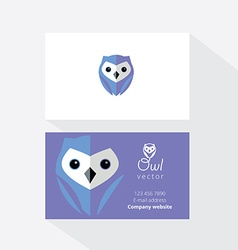 Owl document template vector