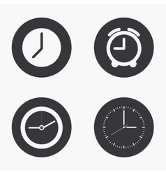 Modern clock icons set vector