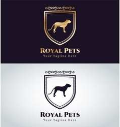 Abstract pet dog logo concept vector