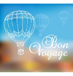 Background with air balloon vector