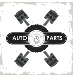Machine icon auto part design graphic vector