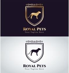 Abstract pet dog logo concept vector