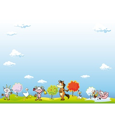 Animal farm background vector