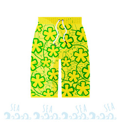 beach bright men shorts in the style of the miami vector image vector image