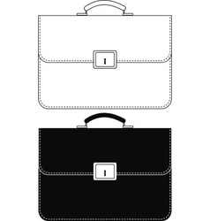 black leather portfolio vector image vector image