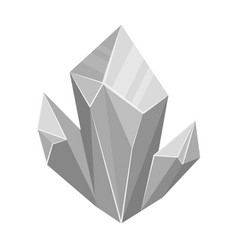 Blue natural mineral icon in monochrome style vector