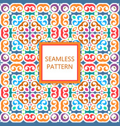 Colorful seamless pattern ornamental mosaic vector