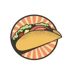 Emblem tacos vector