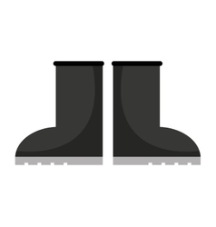 Farmer boots isolated icon design vector