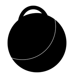 Fitness ball icon simple style vector image