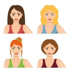 four women vector image vector image