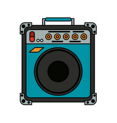 Guitar amplifier icon image vector