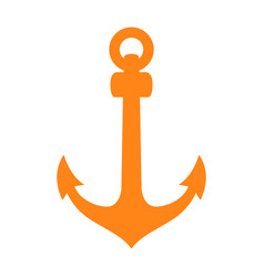 Isolated anchor silhouette vector