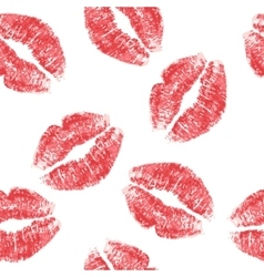 Lips print vector image vector image