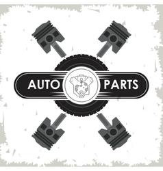 Machine icon auto part design graphic vector