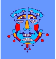 Original avantgarde geometric composition of man vector