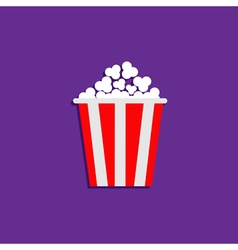 Popcorn cinema movie icon violet flat vector