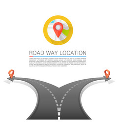 Road choice road arrow cover road way location vector