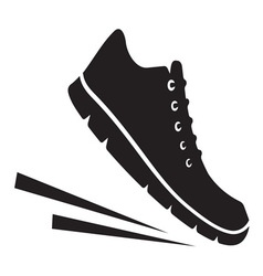 Running shoes icon2 vector image vector image