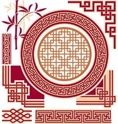 Set of Oriental - Chinese - Design Elements vector image vector image