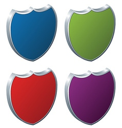 Shields - 3d badges vector