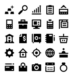 Shopping and retail icons 4 vector