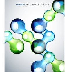 Techno bubble background vector image vector image