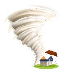 Tornado damages house vector