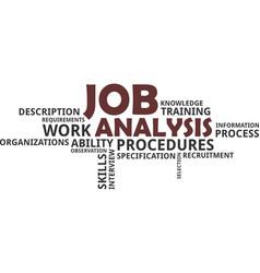 Word cloud - job analysis vector